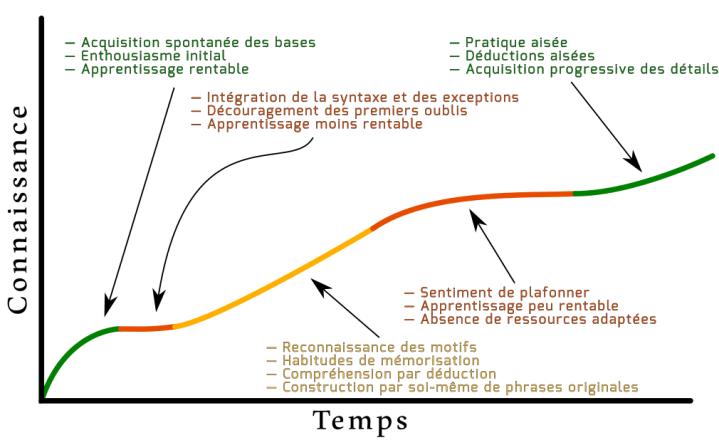 Schéma de la courbe d'apprentissage