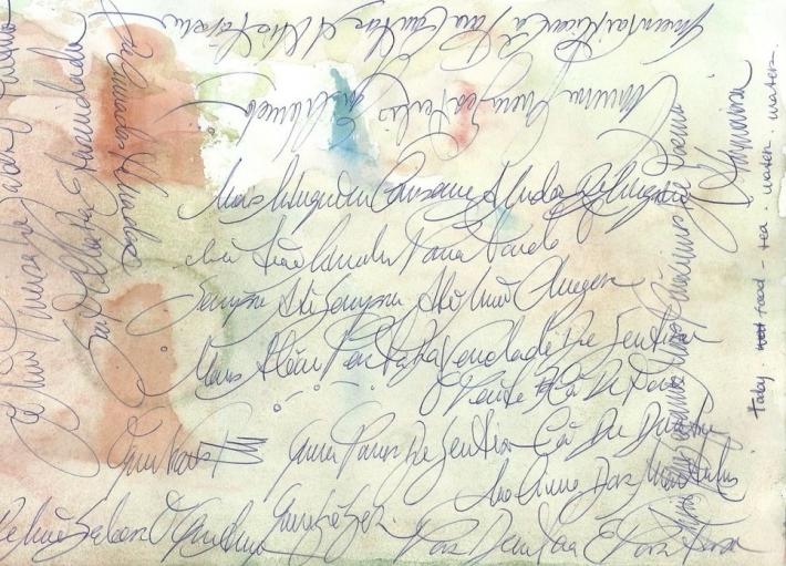 Illustration d'écriture automatique manuscrite.