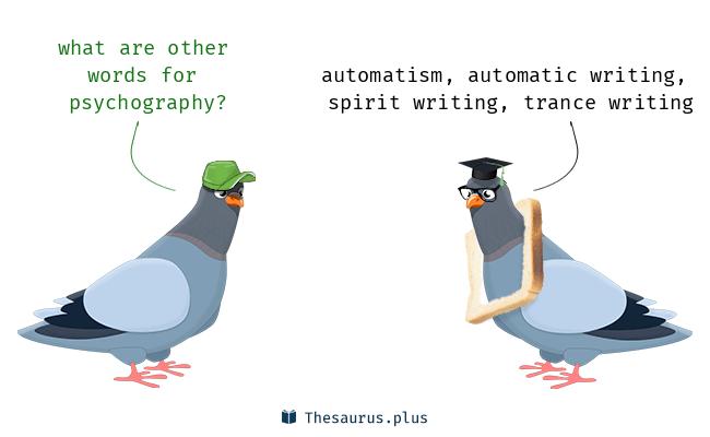 Illustration de synonymes à l'écriture automatique