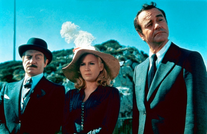 Clive Revill, Juliet Mills et Jack Lemmon dans le film Avanti! de Billy Wilder