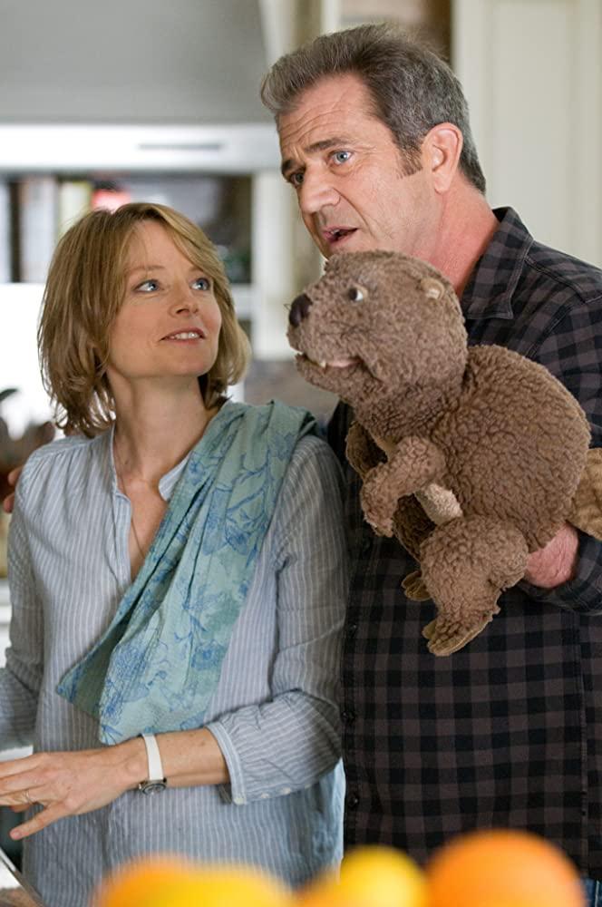 Jodie Foster et Mel Gibson dans le film Le Complexe du castor
