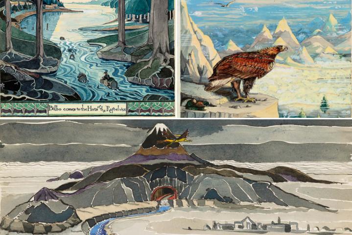 Illustrations de J. R. R. Tolkien pour Le Hobbit