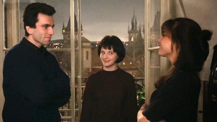 Daniel Day-Lewis, Juliette Binoche et Lena Olin dans le film L'insoutenable légèreté de l'être